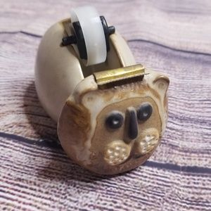 Vintage Takahashi lion ceramic tape dispenser
